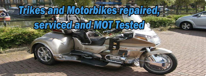 Trikes and Motorbikes repaired, serviced and MOT Tested