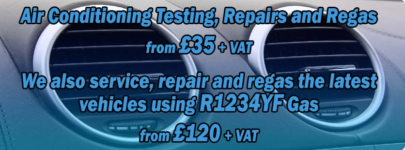 Air Conditioning Testing, Repairs and Regas from £35 + VAT